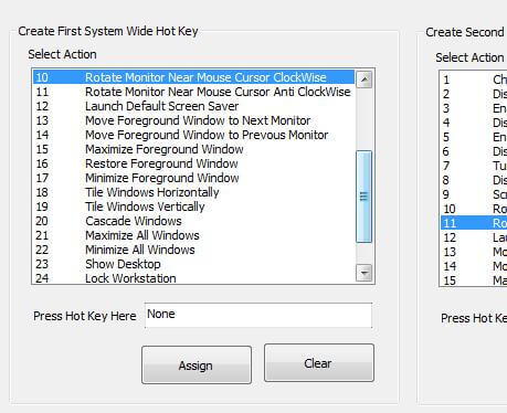 Rotate Screen in steps on 90 degree with keyboard or shortcut