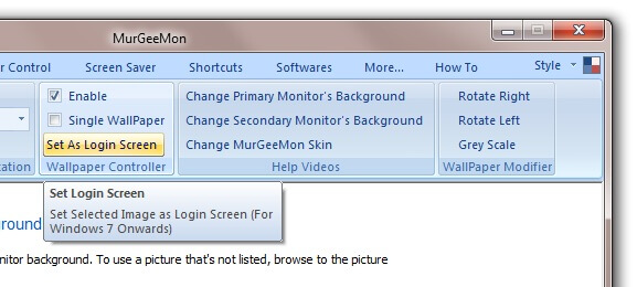 Easy way to change Login Screen on Windows 7