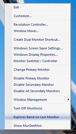 Partial Implementation of Windows Taskbar on Multi Monitor Windows Computer