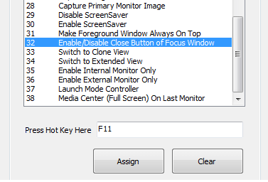 Shortcut Key Combination to Enable or Disable the Close Button of any Application Window
