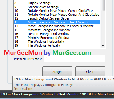 Use Keyboard Shortcut to move application window within monitors