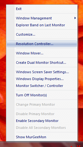 Use Resolution Controller to create a shortcut to change monitor resolution